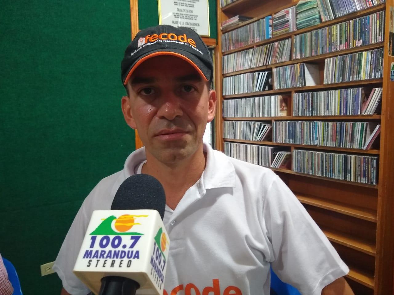 Aurelio Zuluaga, presidente de la Asociación de Educadores del Guaviare (ADEG)