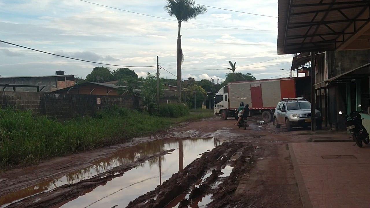 Calles de San José del Guaviare en mal estado estado